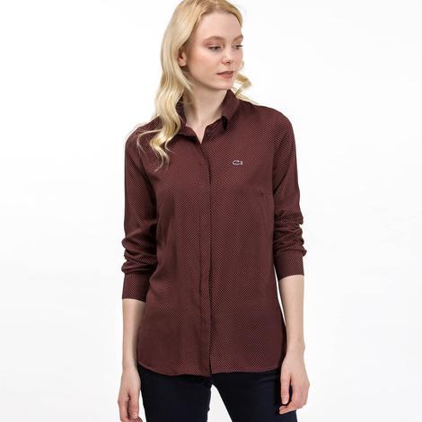 Lacoste Kadın Mor Uzun Kollu Gömlek