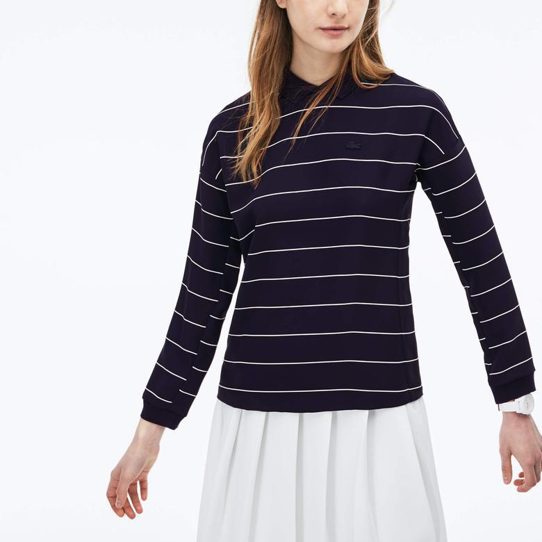 Lacoste Kadın Lacivert Uzun Kollu Sweatshirt