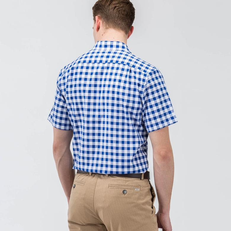 Lacoste Erkek Lacivert Regular Fit Kısa Kollu Gömlek