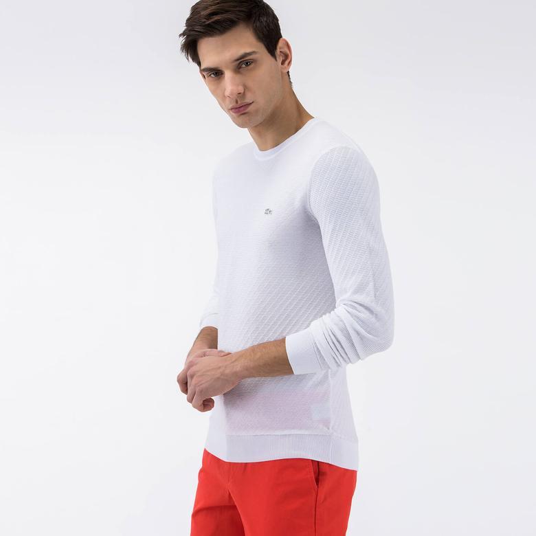 Lacoste Erkek Beyaz Triko