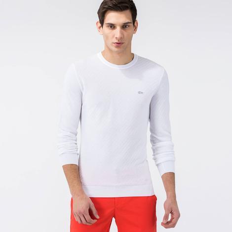 Lacoste Erkek Beyaz Regular Fit Triko