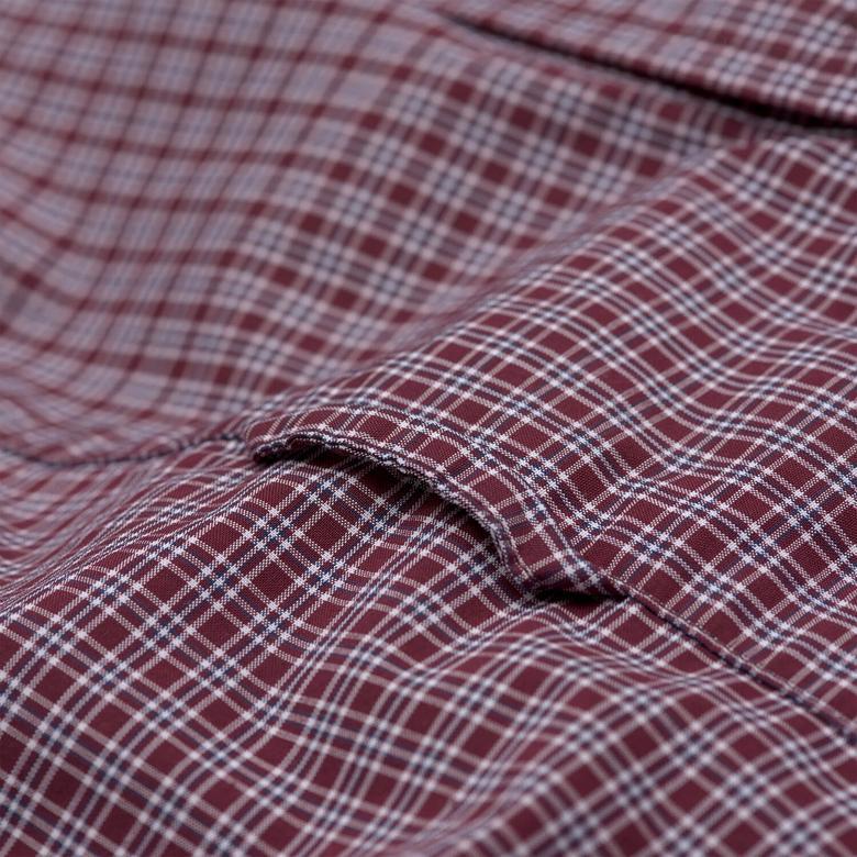 Gant Erkek Bordo Uzun Kollu Slim Fit Gömlek
