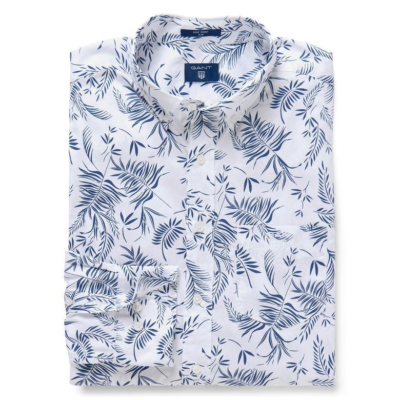 Gant Erkek Beyaz Uzun Kollu Slim Fit Gömlek