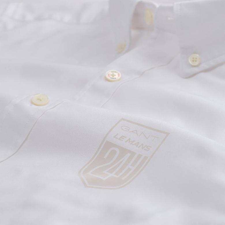 Gant Erkek Beyaz Uzun Kollu Slim Fit Oxford Gömlek