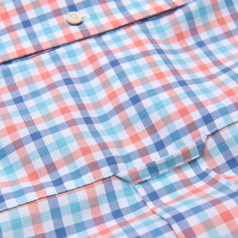 Erkek Renkli Kareli Regular Broadcloth Gömlek