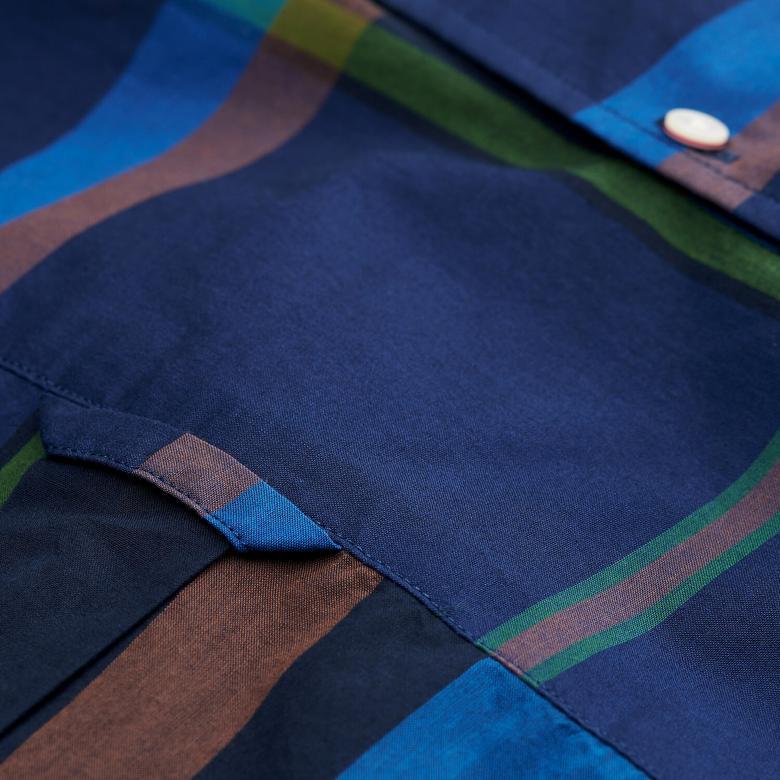 Gant Erkek Check Desenli Lacivert Regular Fit Gömlek