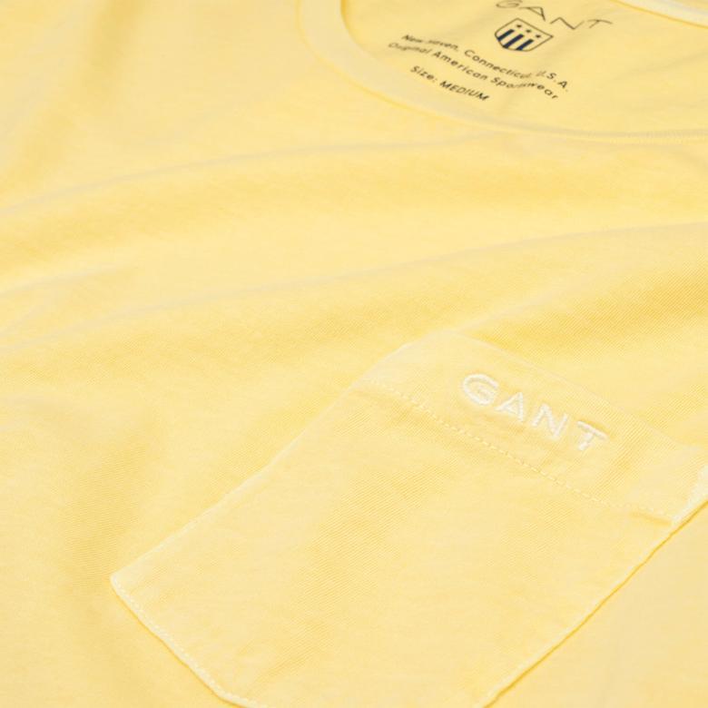 Gant Erkek Sarı Regular Fit T-Shirt