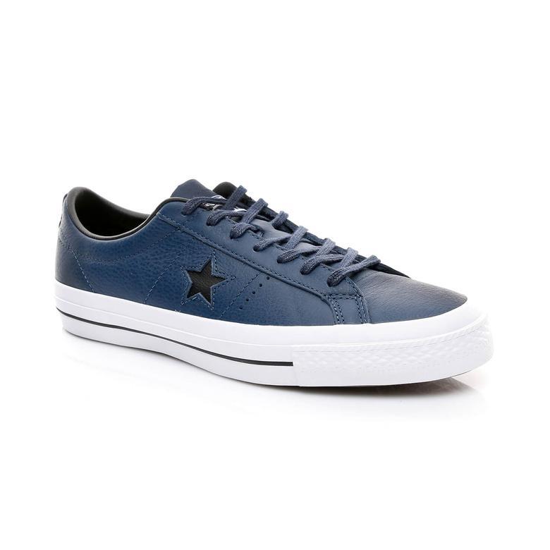 Converse One Star Unisex Lacivert Sneaker