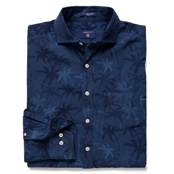 Gant Erkek Lacivert Uzun Kollu Fit Gömlek