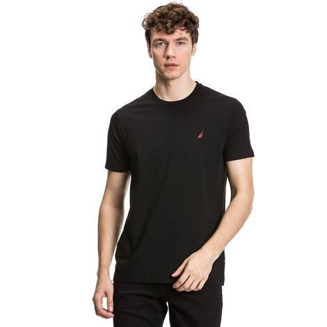 Nautica Erkek Siyah Slim Fit T-Shirt