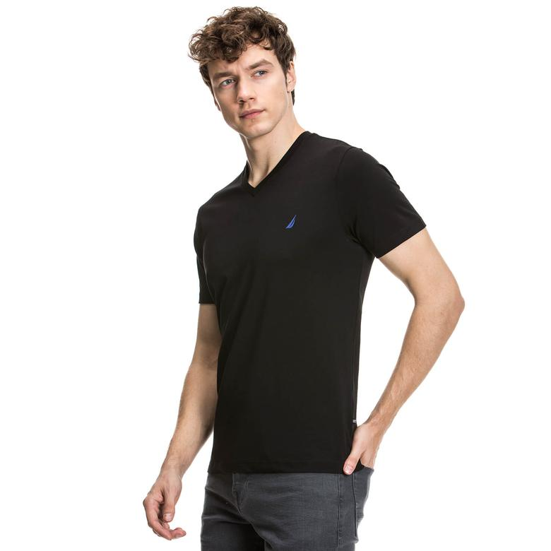 Nautica Erkek Siyah Kısa Kollu Slim Fit T-Shirt
