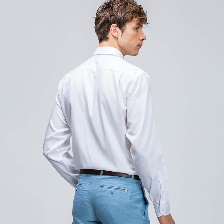 Lacoste Erkek Beyaz Regular Fit Uzun Kollu Gömlek