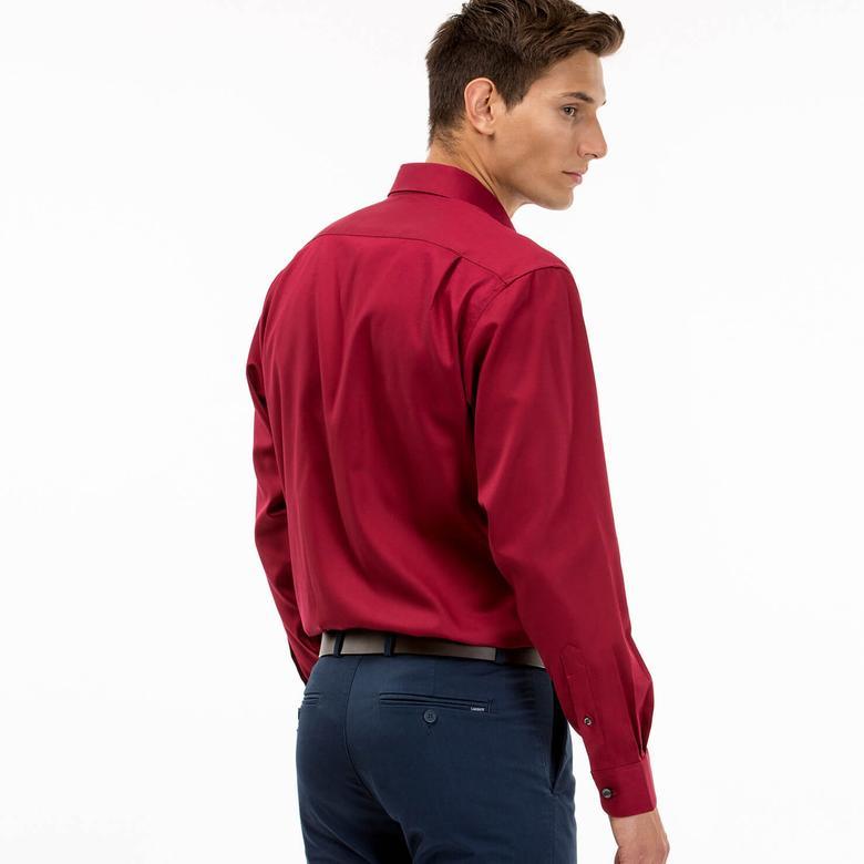Lacoste Erkek Bordo Regular Fit Uzun Kollu Gömlek
