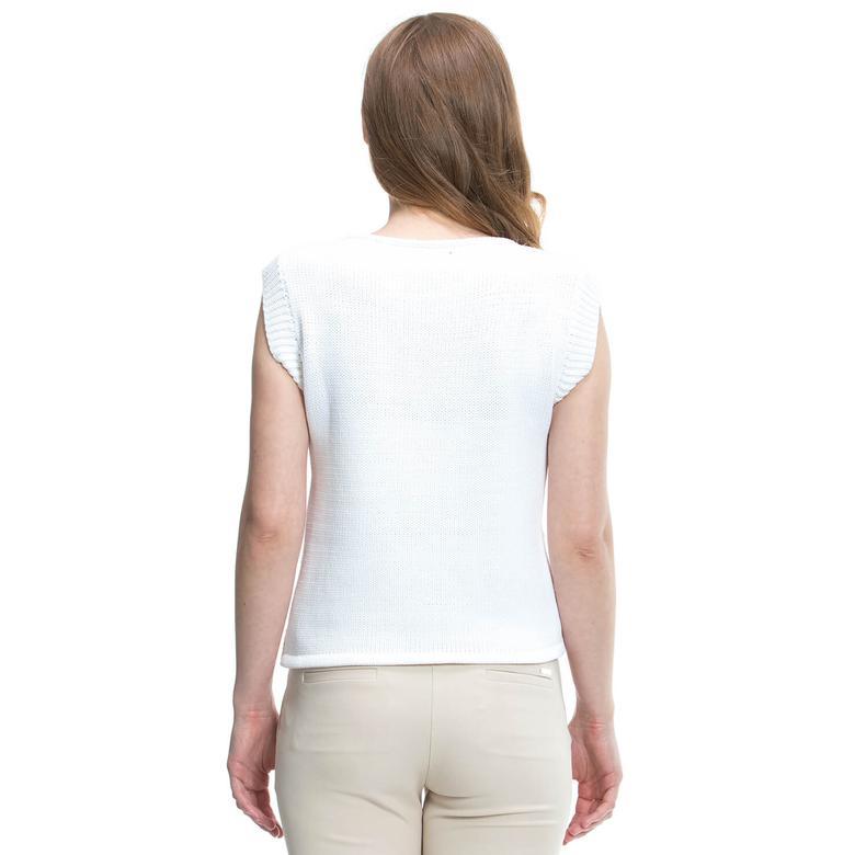 Nautica Kadın Beyaz Triko
