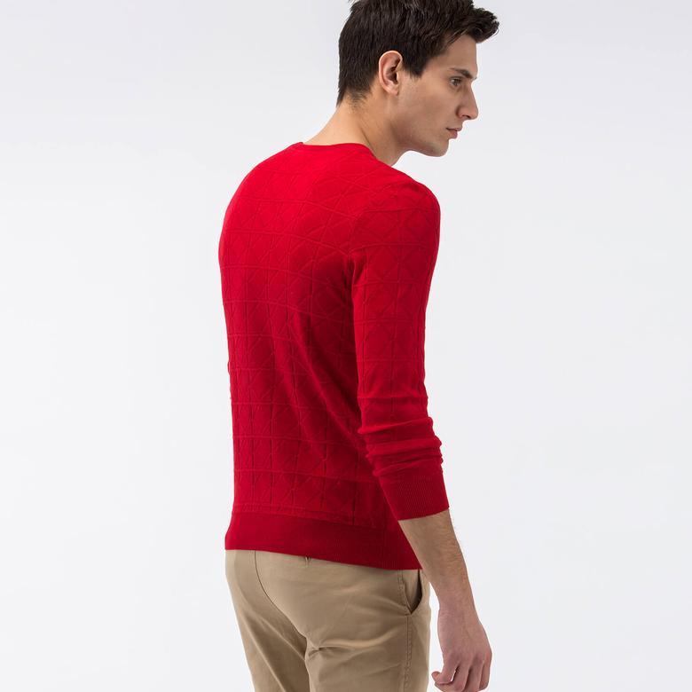 Lacoste Erkek Kırmızı Regular Fit Triko