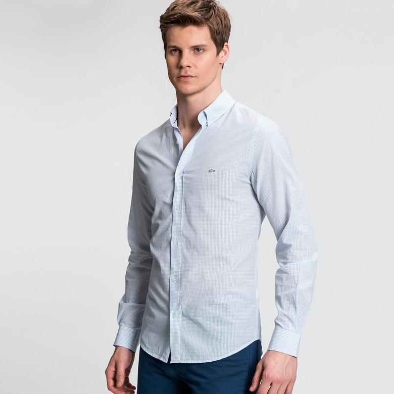 Lacoste Erkek Mavi Uzun Kollu Gömlek