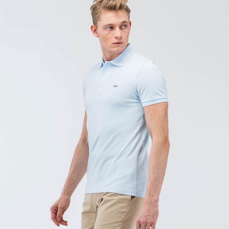 Lacoste Erkek Mavi Slim Fit Kısa Kollu Polo