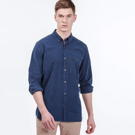 Lacoste Erkek Lacivert Regular Fit Uzun Kollu Gömlek
