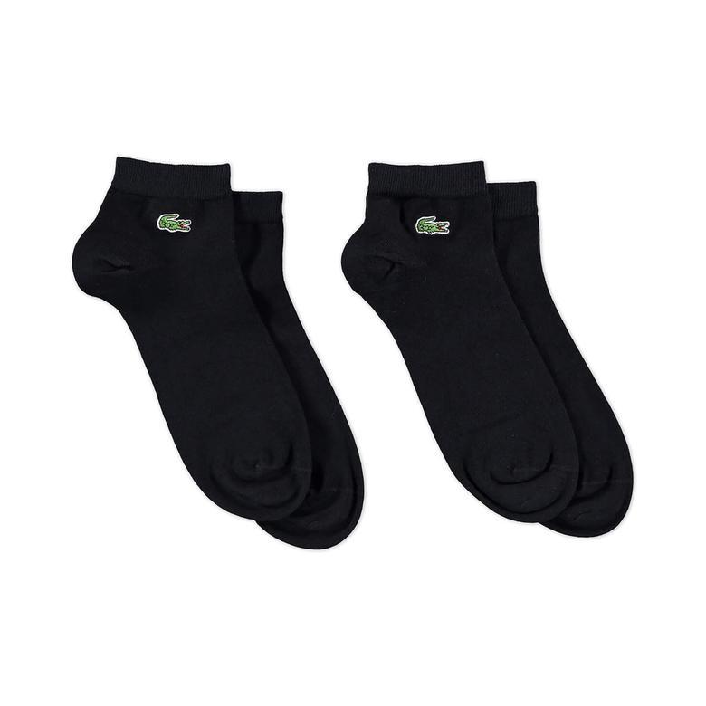 Lacoste Unisex 2'li Siyah Çorap