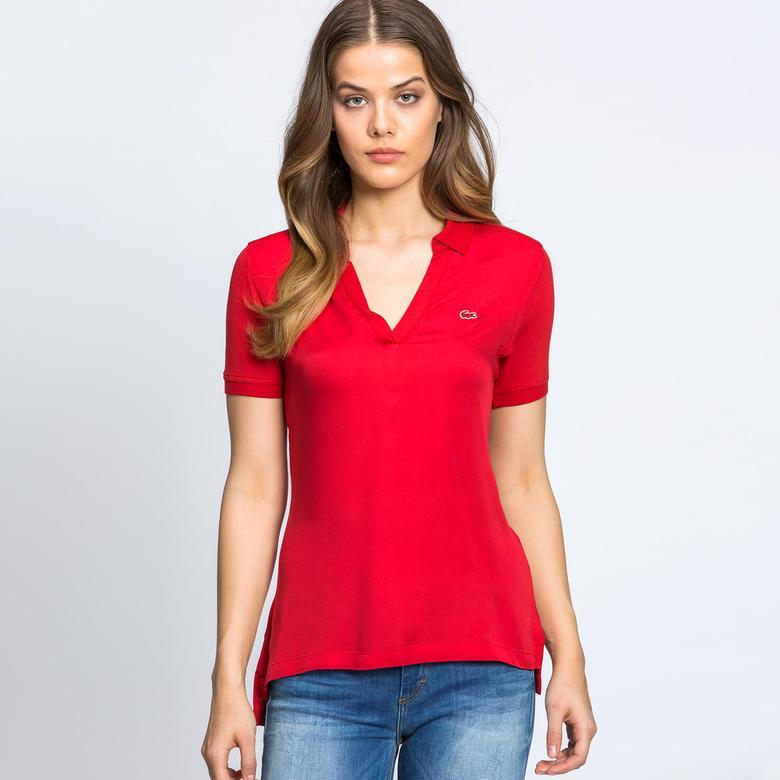 Lacoste Kadın Kırmızı Kısa Kollu Polo