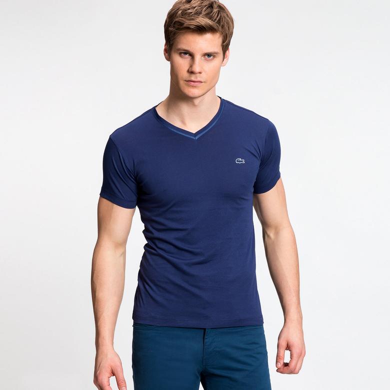 Lacoste Erkek Lacivert Kısa Kollu T-Shirt