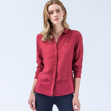 Lacoste Kadın Kırmızı Gömlek