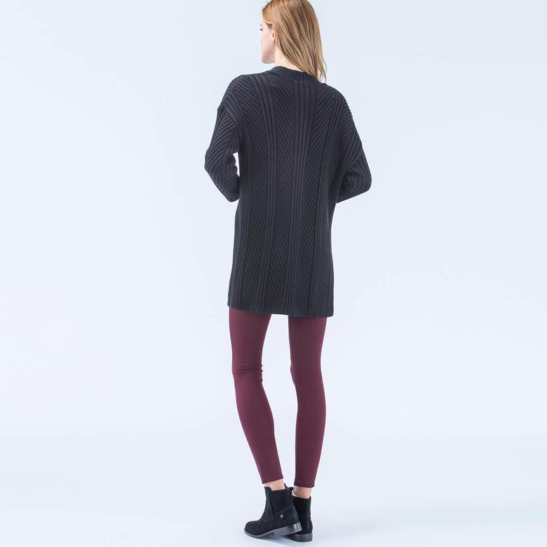 Lacoste Siyah Uzun Kadın Hırka