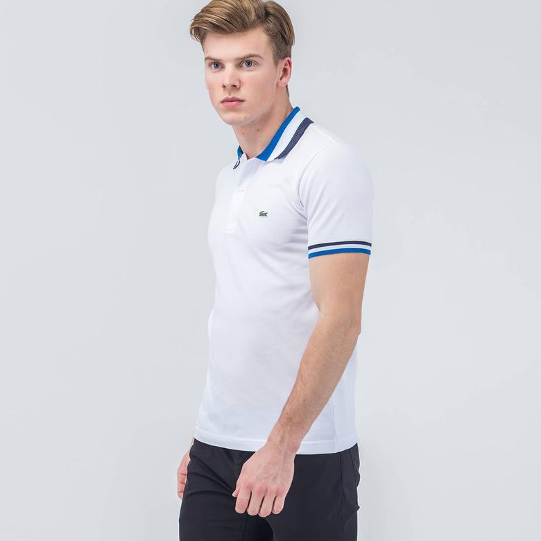 Lacoste Erkek Beyaz Slim Fit Kısa Kollu Polo