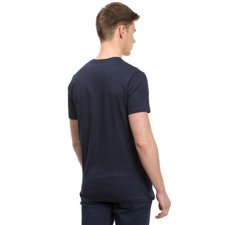 Nautica Erkek Lacivert Slim Fit T-Shirt