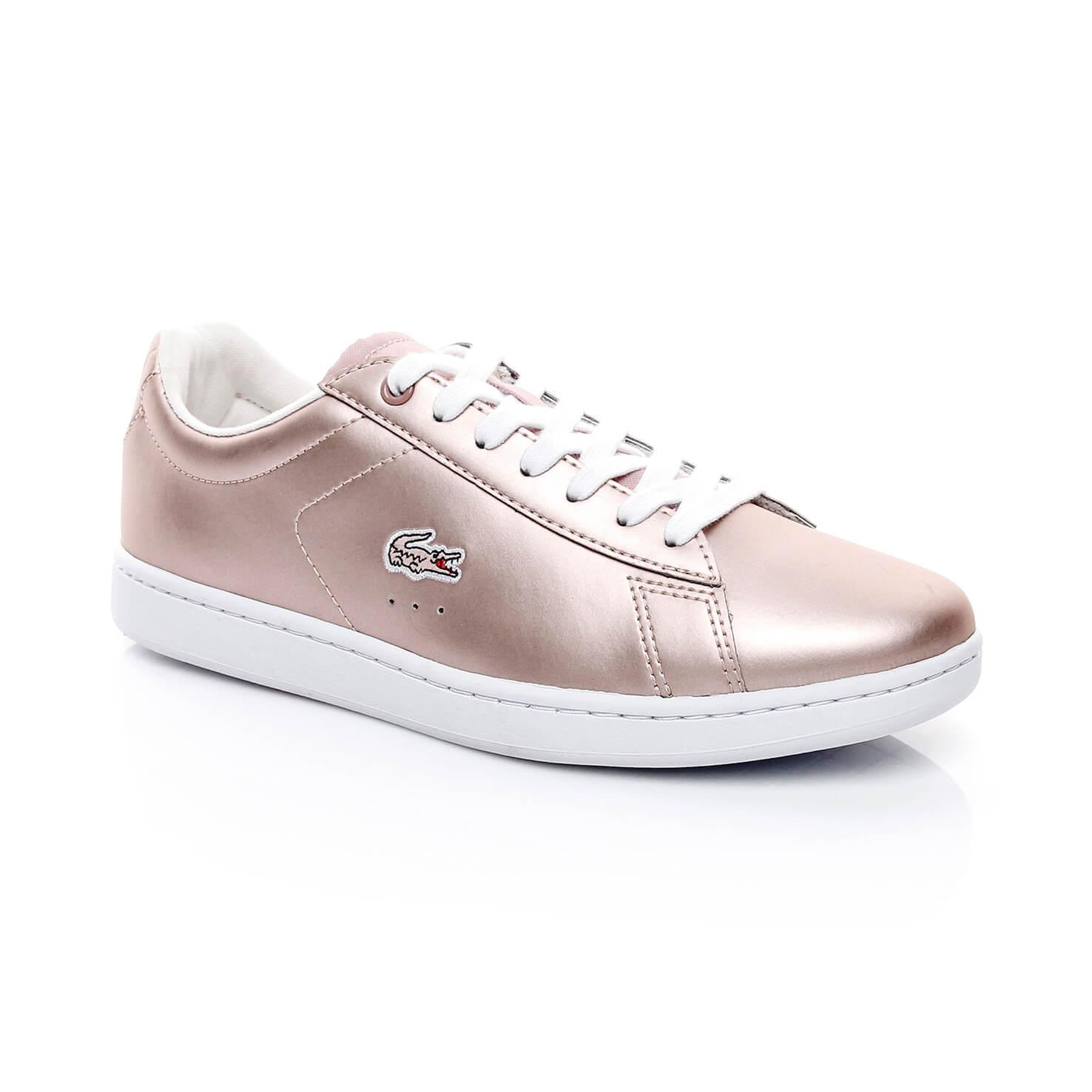 low priced 62f84 2bf35 Lacoste Carnaby Evo Kadın Pembe Sneaker
