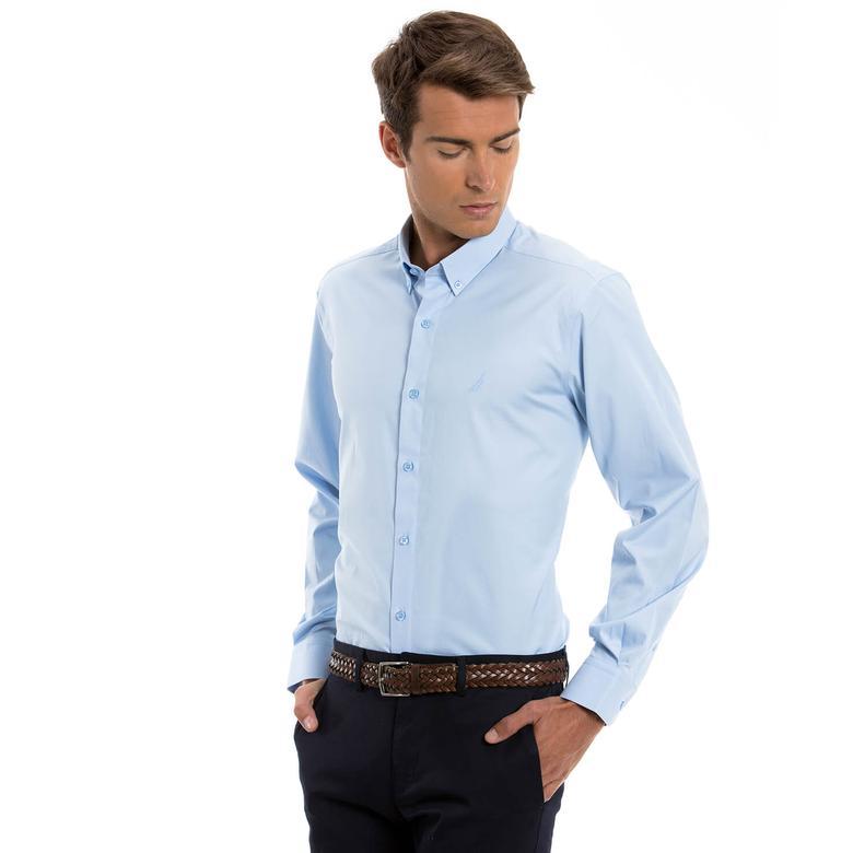 Nautica Erkek Mavi Regular Fit Gömlek