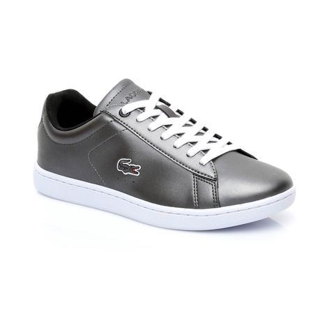 Lacoste Carnaby Evo Kadın Metalik Siyah Sneaker