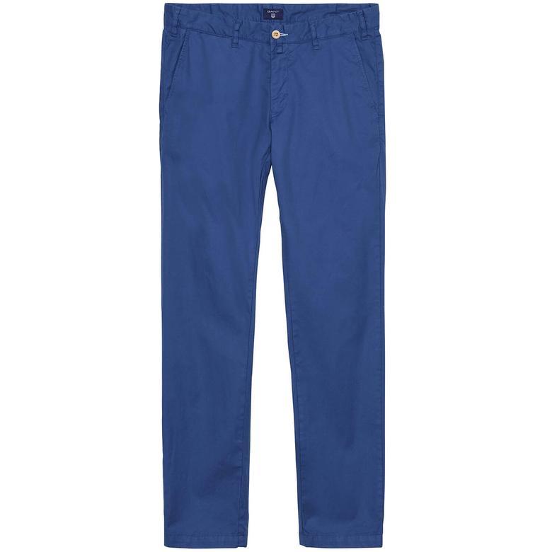 Erkek Chino Mavi Slim Pantolon