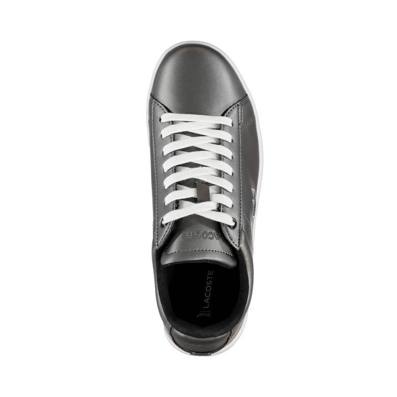 Lacoste Carnaby Evo Kadın Metalik Gri Sneaker