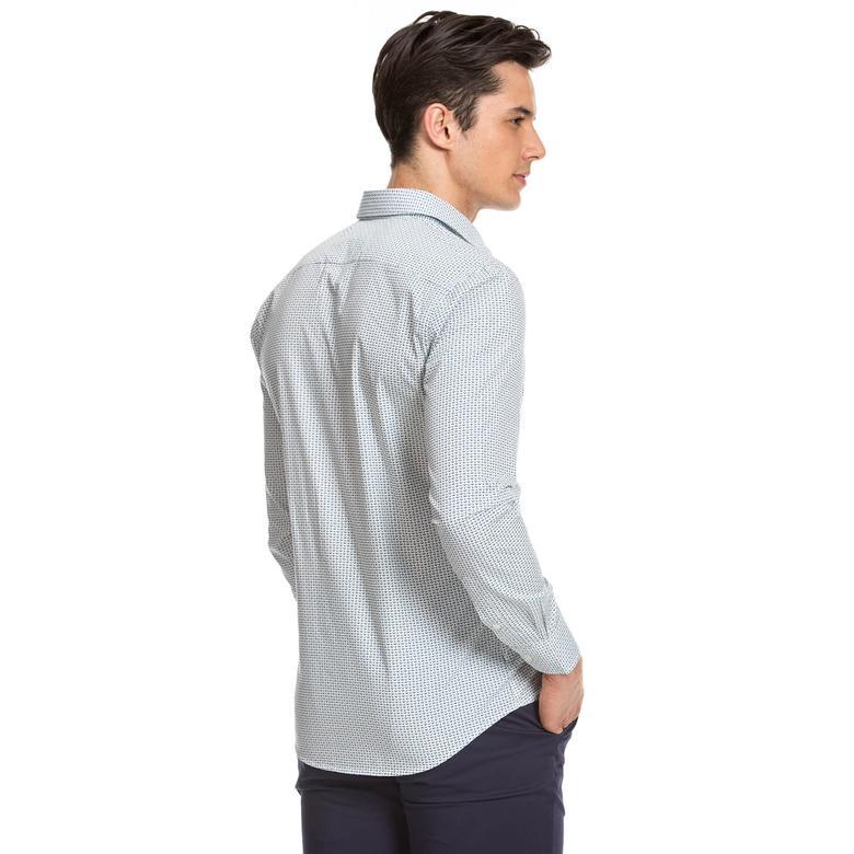 Nautica Erkek Mavi Uzun Kollu Gömlek