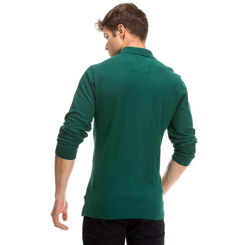 Nautica Erkek Yeşil Uzun Kollu Regular Fit Polo