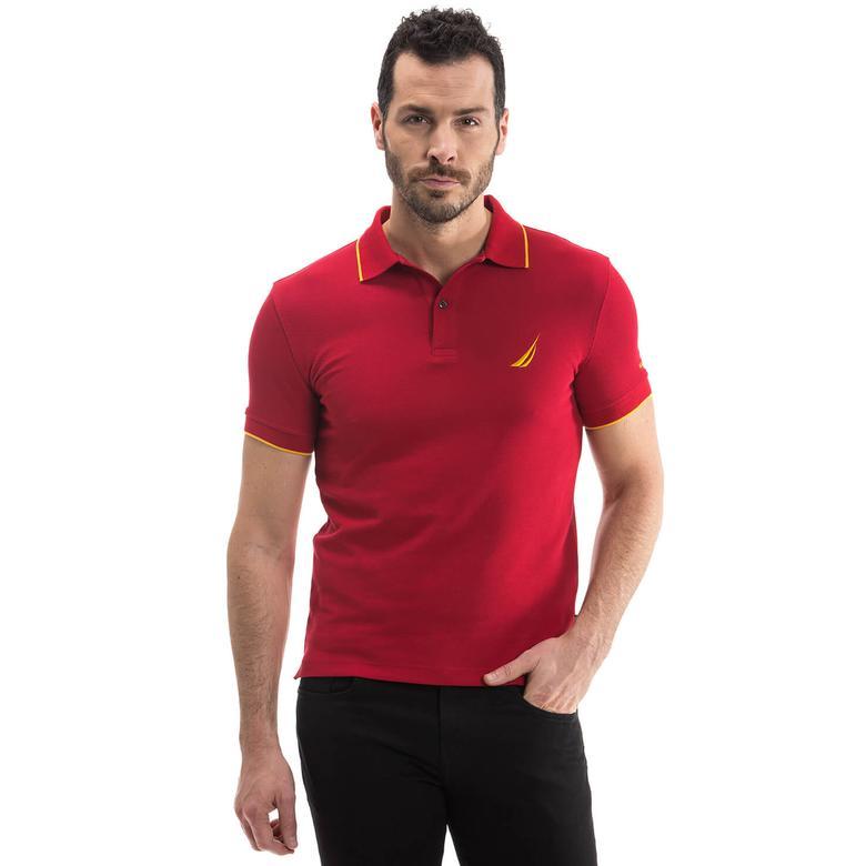 Nautica Erkek Kırmızı Kısa Kollu Polo