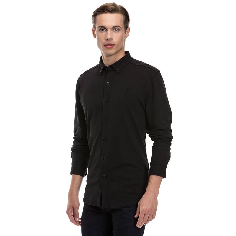 Nautica Erkek Uzun Kollu Siyah Gömlek