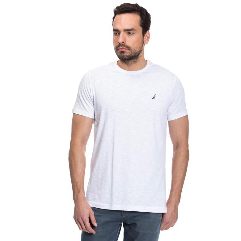 Nautica Erkek Beyaz Slim Fit T-Shirt