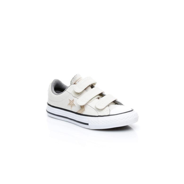 Converse Star Player 3V Çocuk Krem Sneaker