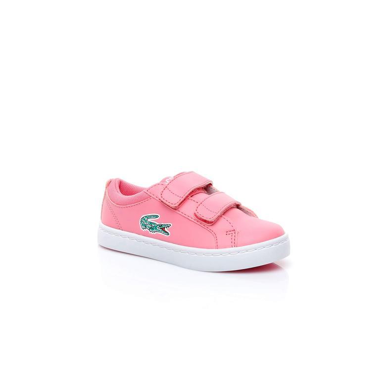 Lacoste Straightset Lace Çocuk Pembe Sneaker