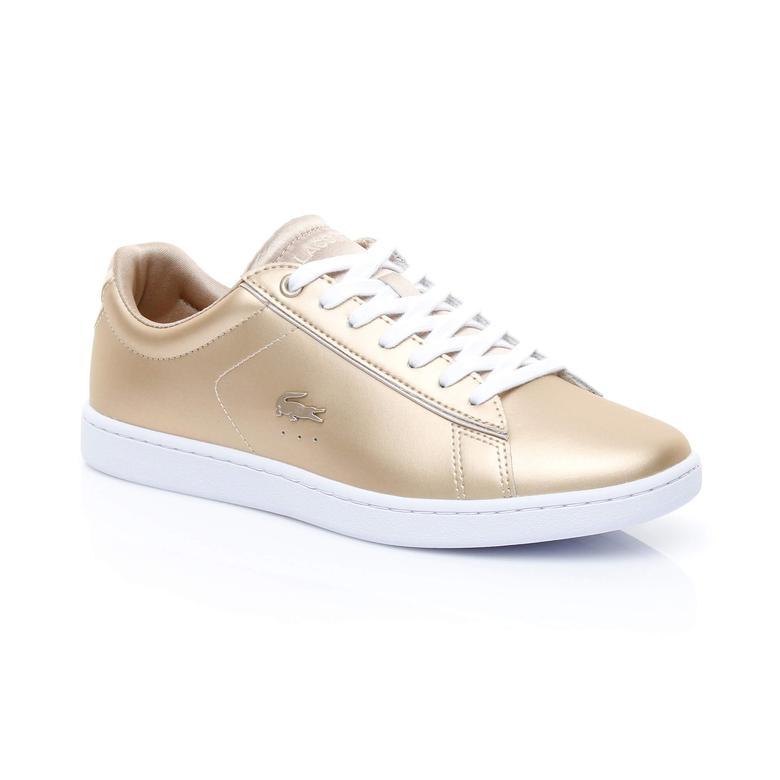 Lacoste Carnaby Evo Kadın Altın Rengi Sneaker