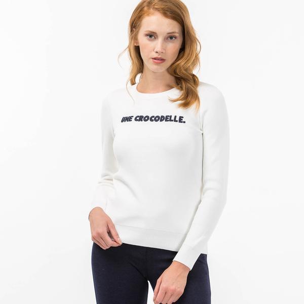 Lacoste Kadın Beyaz Triko
