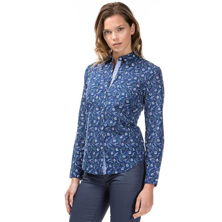 Nautica Kadın Mavi Gömlek