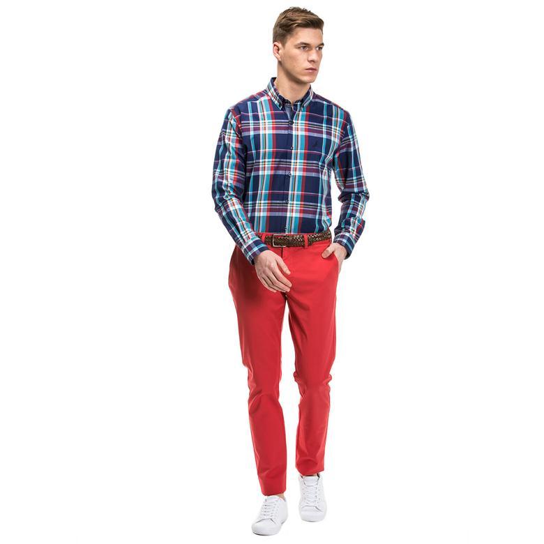 Nautica Erkek Kırmızı Slim Fit Pantolon