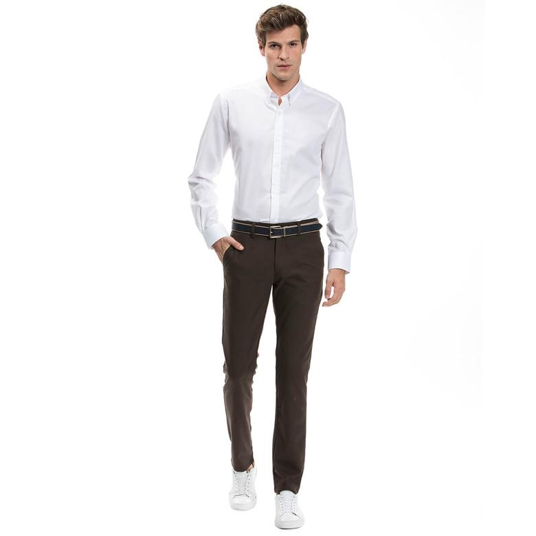 Nautica Erkek Kahverengi Slim Fit Pantolon