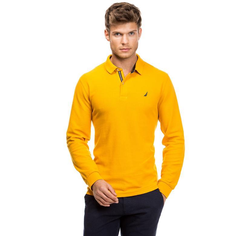 Nautica Erkek Sarı Uzun Kollu Regular Fit Polo