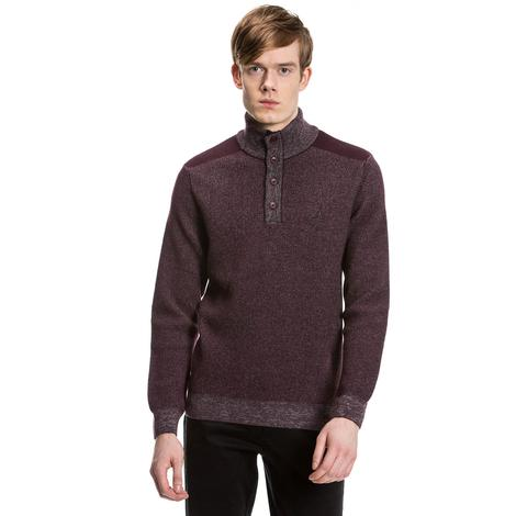 Nautica Erkek Bordo Regular Fit Triko