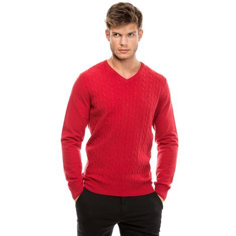 Nautica Erkek Kırmızı Regular Fit Triko