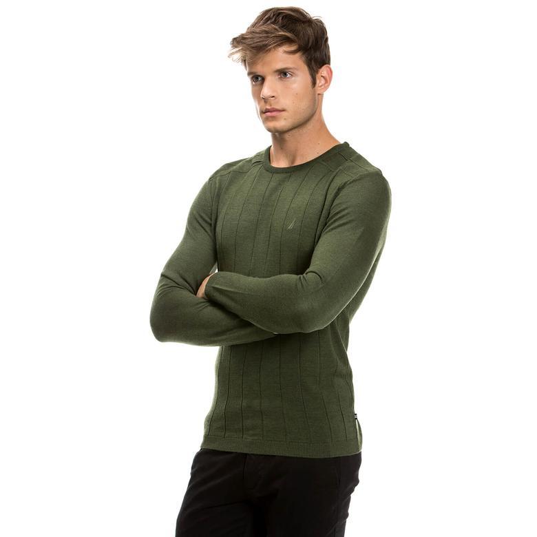 Nautica Erkek Yeşil Regular Fit Triko